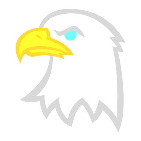 Cabeza de dibujos animados de águila