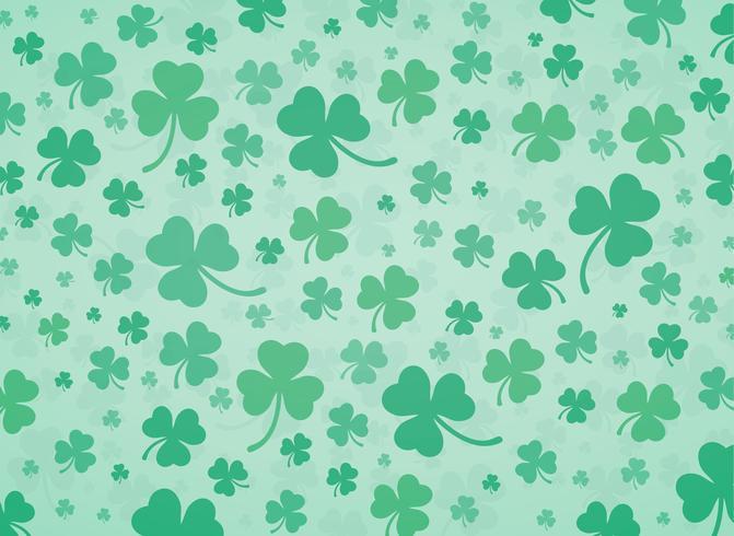 cute green clover leaf background vector illustration