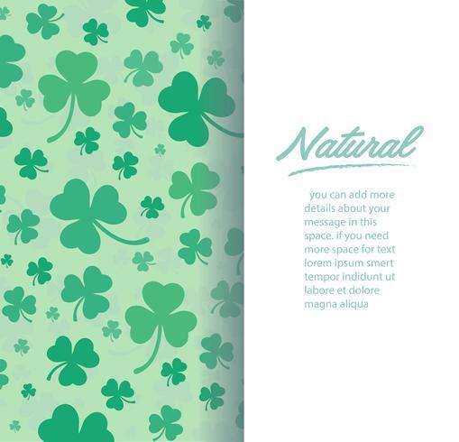söt grönklöver blad bakgrund vektor illustration