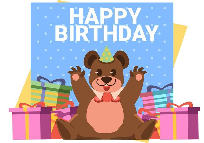 Grattis på födelsedagen djurbjörn