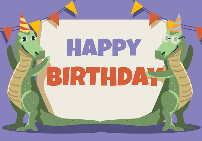Happy Birthday Animal Crocodiles