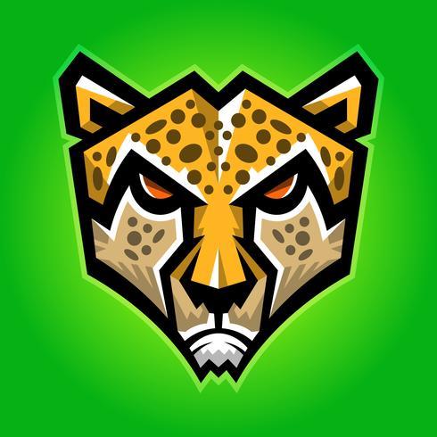 Ilustración de vector de gato grande de guepardo