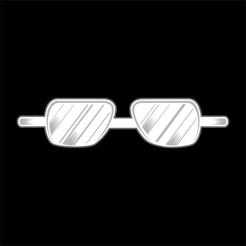 gafas aisladas mano dibujo vectorial vector