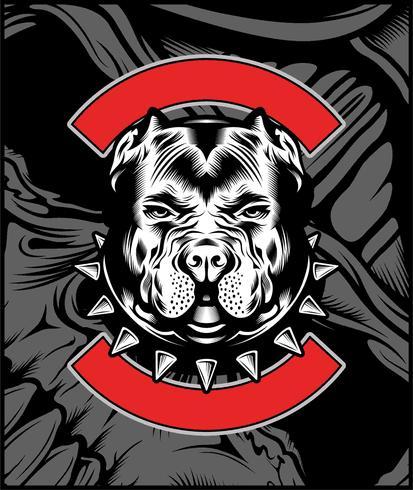 Gemiddelde Bulldog mascotte illustratie
