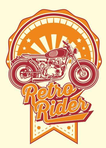 Piloto retro con motos vintage.