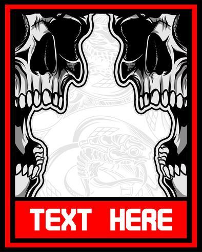 skull screaming vector hand drawing