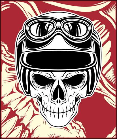 cráneo casco vector mano dibujo