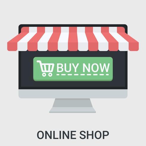 Loja online em um design plano