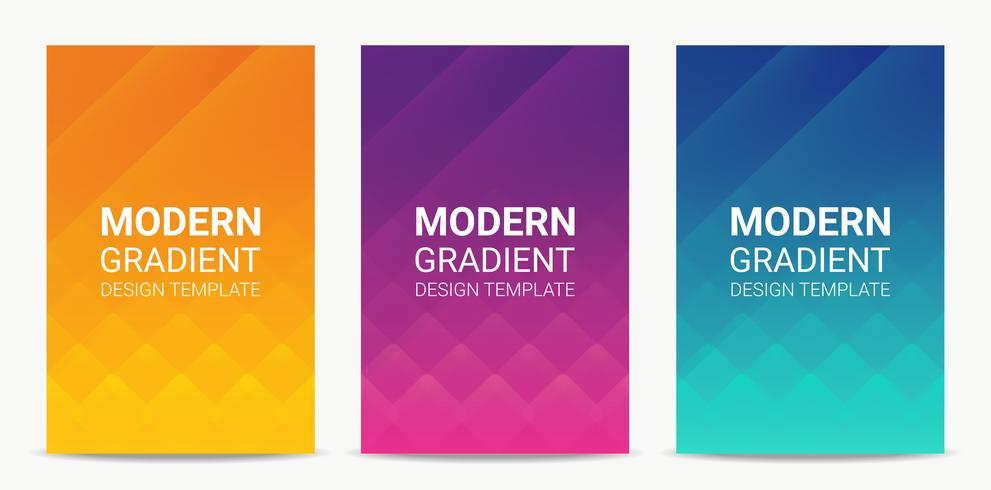 Fluid Modern gradient background design template set