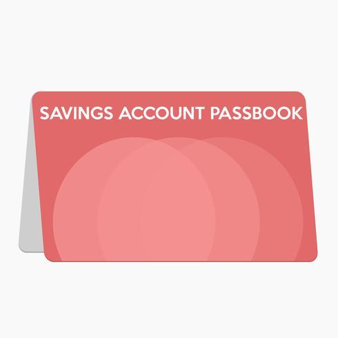 Het opslaan van het vlakke ontwerp van het accountpasboek