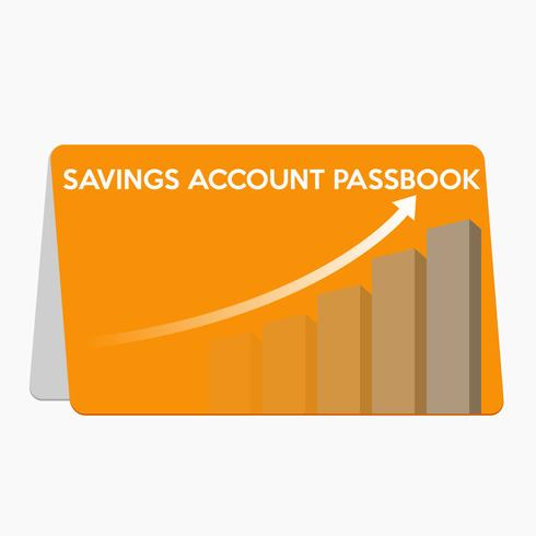 Saving account passbook flat design vector