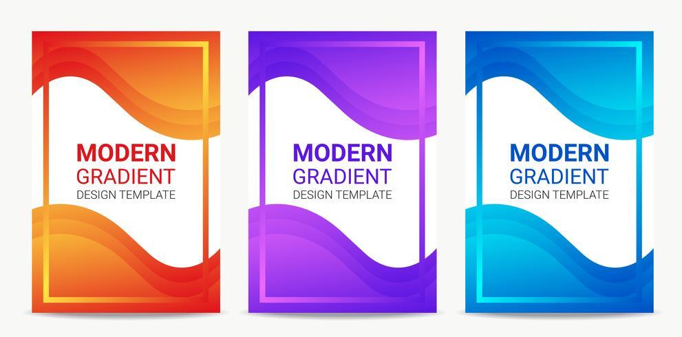 Flüssiger moderner Steigungshintergrund-Designschablonensatz