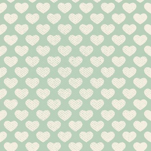 Vector Seamless Grunge Heart Pattern