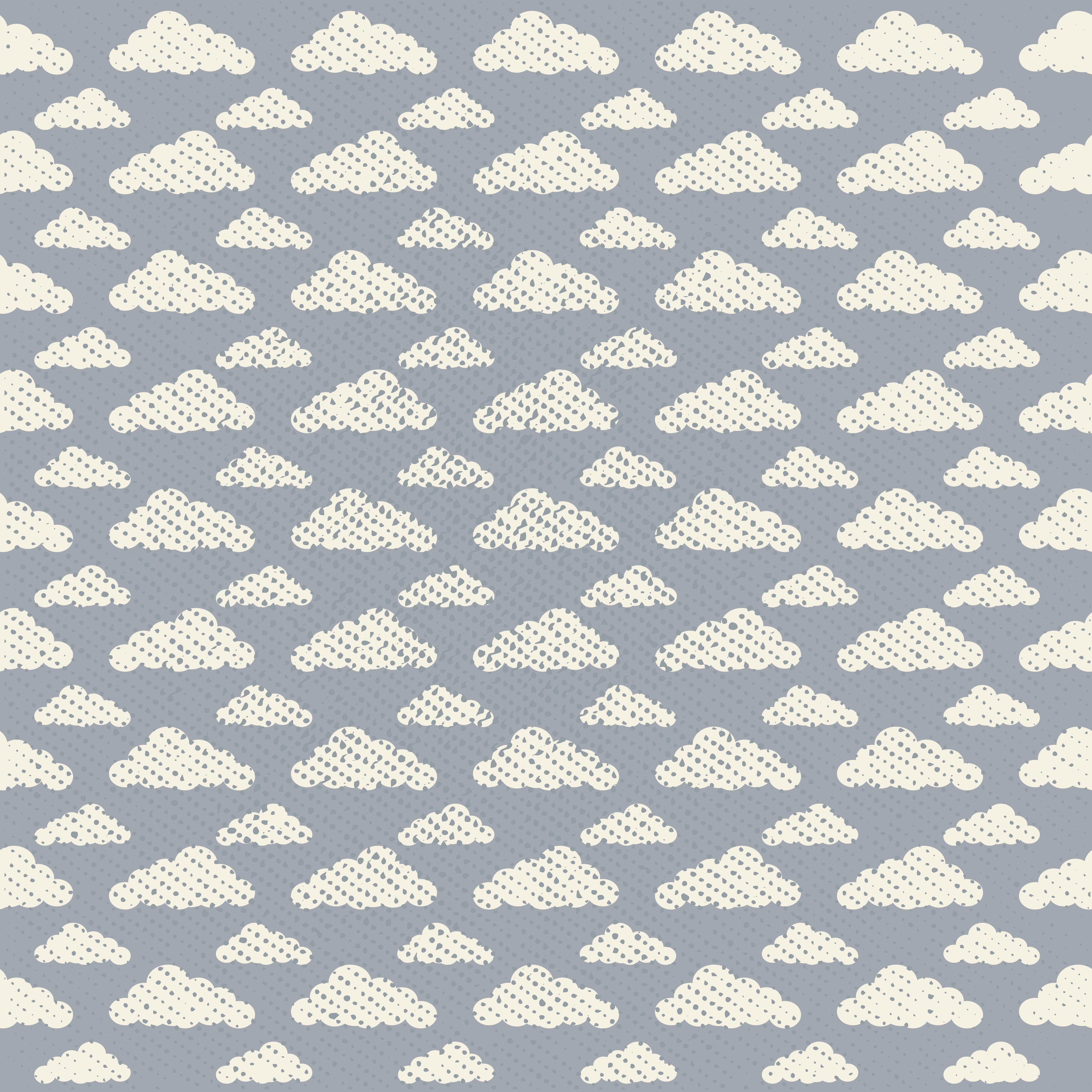 Vector Seamless Grunge Cloud Pattern - Download Free Vectors