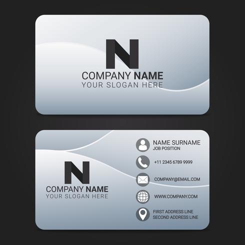Vector Business Card Modern Design Template