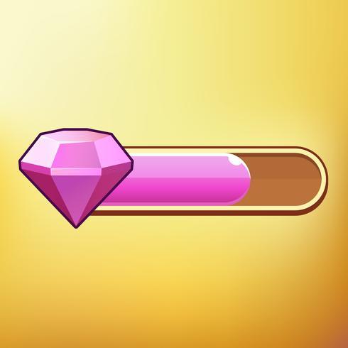 Cartoon Crystal Verschillende symbolen gebruiken GUI-elementen voor casual mobiele games