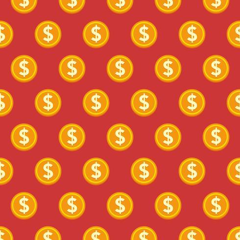 Vector naadloze gouden munten stijl patroon