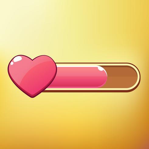 Cartoon Heart Símbolos diferentes ativos GUI elementos para jogos móveis casuais