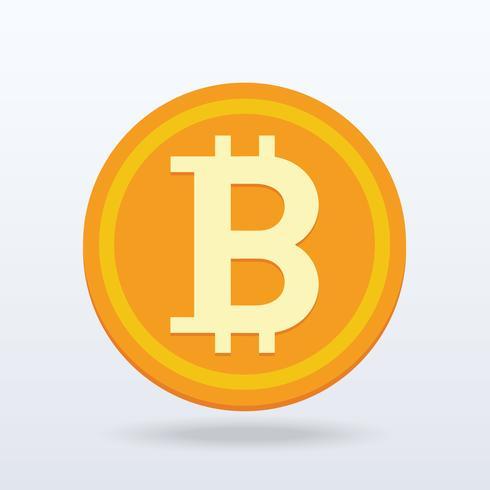 Design plano Bitcoin, moeda digital ou virtual