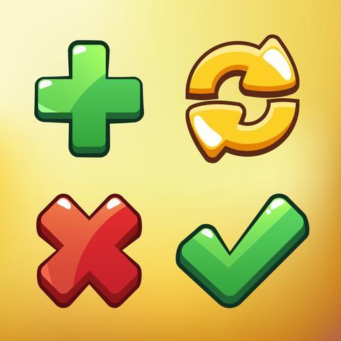 Cartoon Icon Différents symboles asset Illustration vectorielle