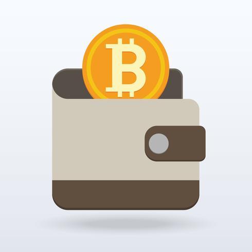 Bitcoin flat design,Digital or virtual coin vector