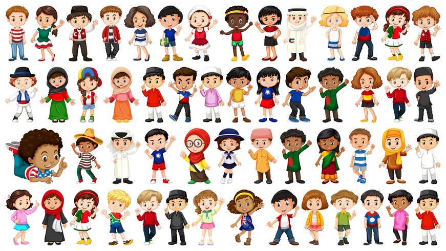grande conjunto de pessoas étnicas