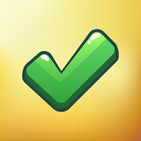 Cartoon Icon Check Verschillende symbolen asset GUI-elementen voor casual mobiele games