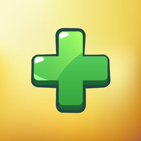 Cartoon Icon Plus Verschillende symbolen gebruiken GUI-elementen voor casual mobiele games