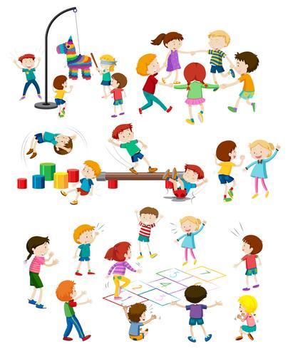 Aantal kinderen spelen