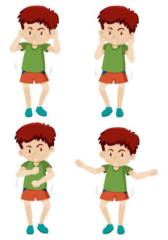 Um movimento de dança menino shmoney