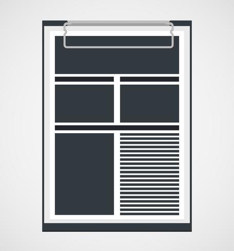 Clipboard in a flat design