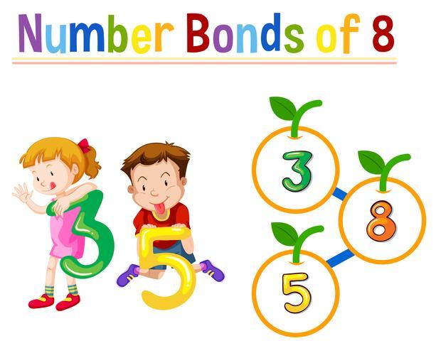 Número de bonos de ocho vector