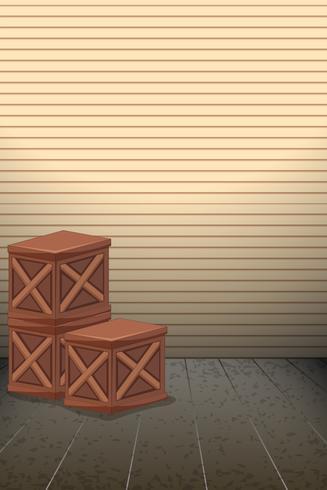 Lege houten kist achtergrond