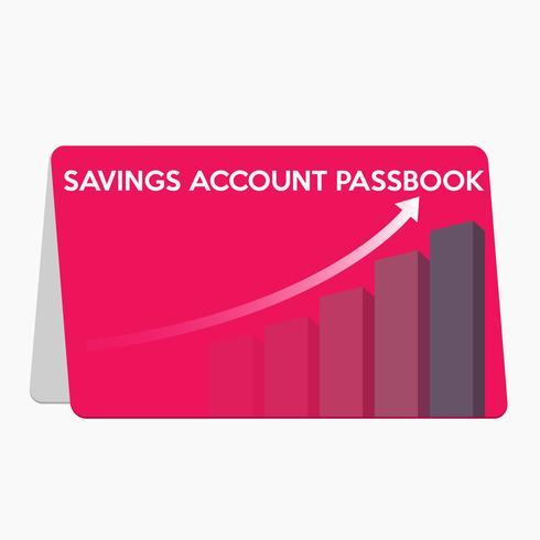 Spara konto passbook platt design vektor