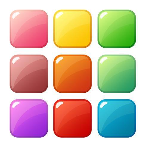 Botão de desenho animado definir jogo, elemento GUI para jogo móvel