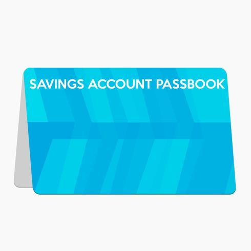 Saving account passbook flat design vector