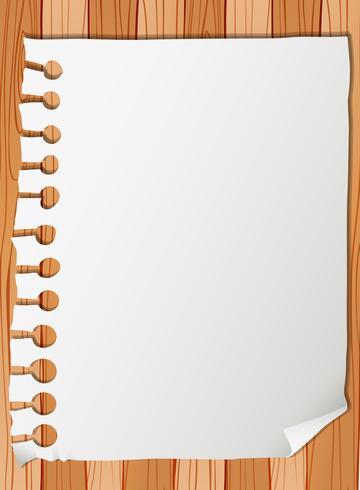 Modelo de nota de papel em branco