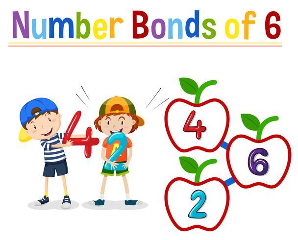 Número de bonos de 6 vector