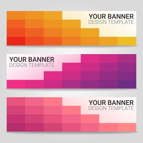 Abstrakter schöner Fahnenschablonenhintergrund, Vektorillustration, Design für Geschäftsdarstellung