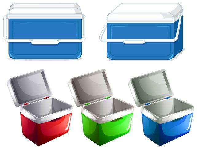 Set des Eisboxbehälters