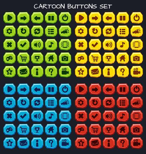 Cartone animato set di giochi per il gioco, elemento della GUI per il gioco mobile