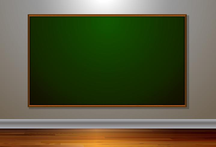 Leeg schoolbord in de kamer