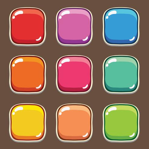 Cartoon knoppen spel, GUI-element voor mobiel spel vector