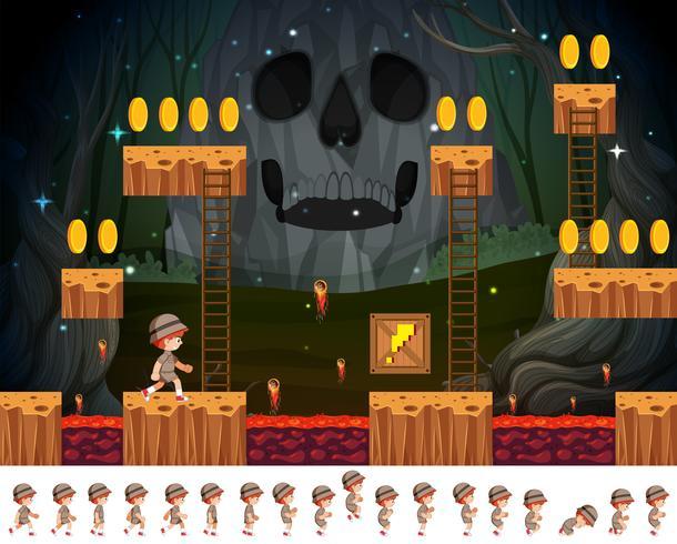 Safari boy game concept