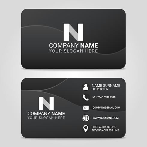 Vektor-Visitenkarte-moderne Design-Schablone