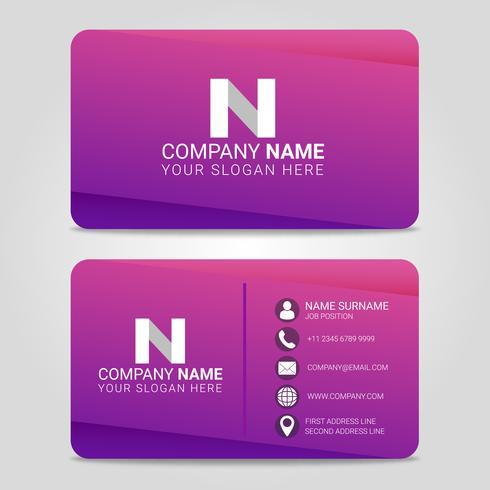 Modelo de Design moderno de cartão de visita vetor