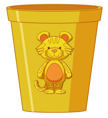 A yellow plastic cup