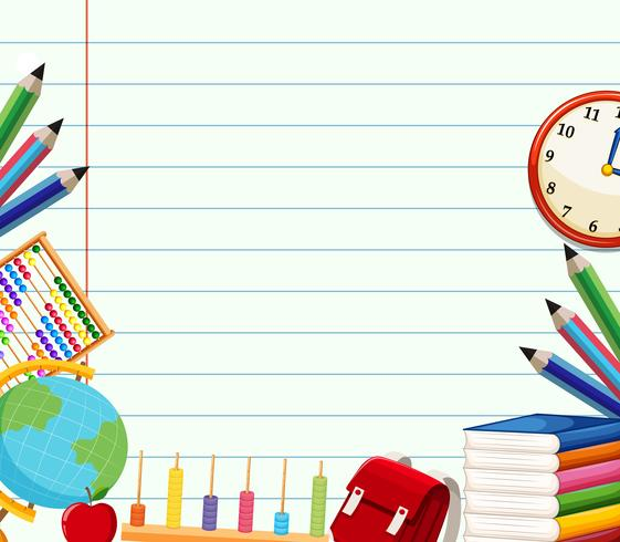 School themed background template