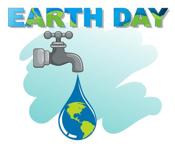 Un logo del dia de la tierra