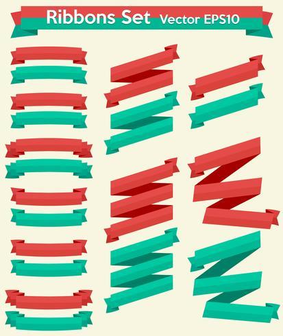 Ribbons Set vector EPS10